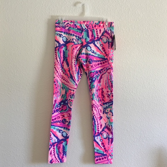 7be5ec85f62c4 Lilly Pulitzer Bottoms | Girls Maia Legging Coral Shell Out | Poshmark